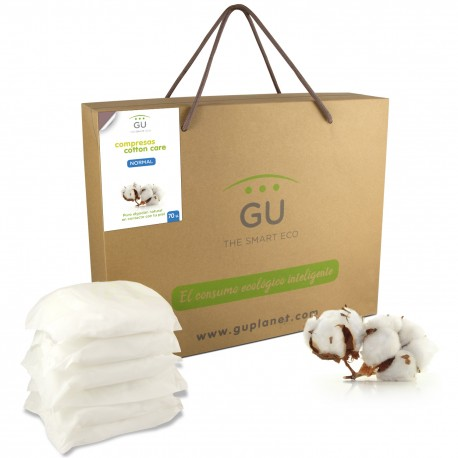 Ultra light Day pads with wings. Organic cotton