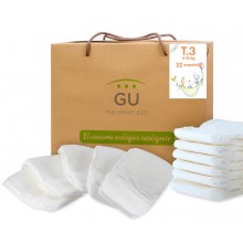 S3 organic disposable diapers. Non-irritating. 32 units