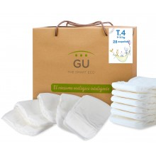 S4 organic disposable diapers. Non-irritating. 28 units