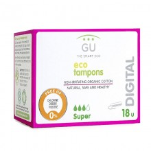 Digital tampons. Organic cotton (Super)